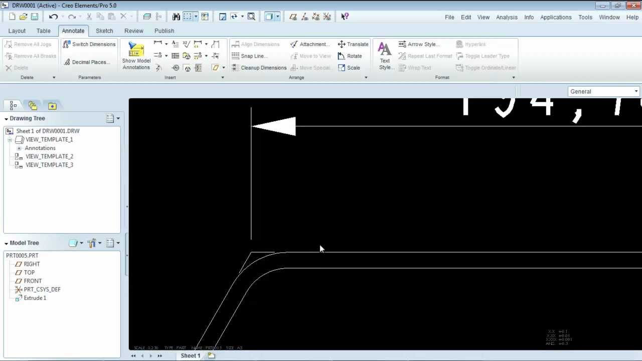 Creating Intersection Witness Lines on Pro/Engineer (Creo) Drawings ...