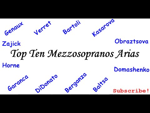 Top Ten Mezzosoprano Arias Vol. I - Greatest Opera Arias