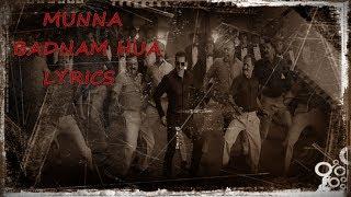 Munna Badnaam Hua Lyrical Video   Dabangg 3   Badshah,Kamaal Khan, Mamta Sharma  Sajid Wajid