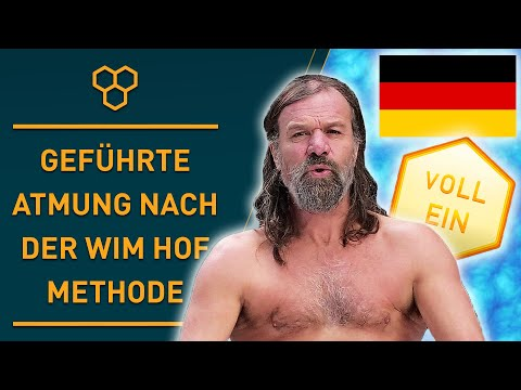 German Guided Wim Hof Method Breathing Exercise | (3 Rounds Slow Pace)