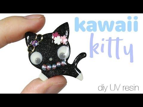 How to DIY Kawaii/Cute Kitty Cat Resin Tutorial (ft. Lorien's Craft Box)