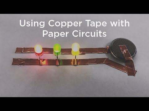 Using Copper Tape with Paper Circuits