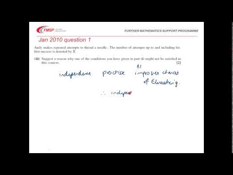 FMSP Revision Video: OCR S1 - Binomial and geometric distributions