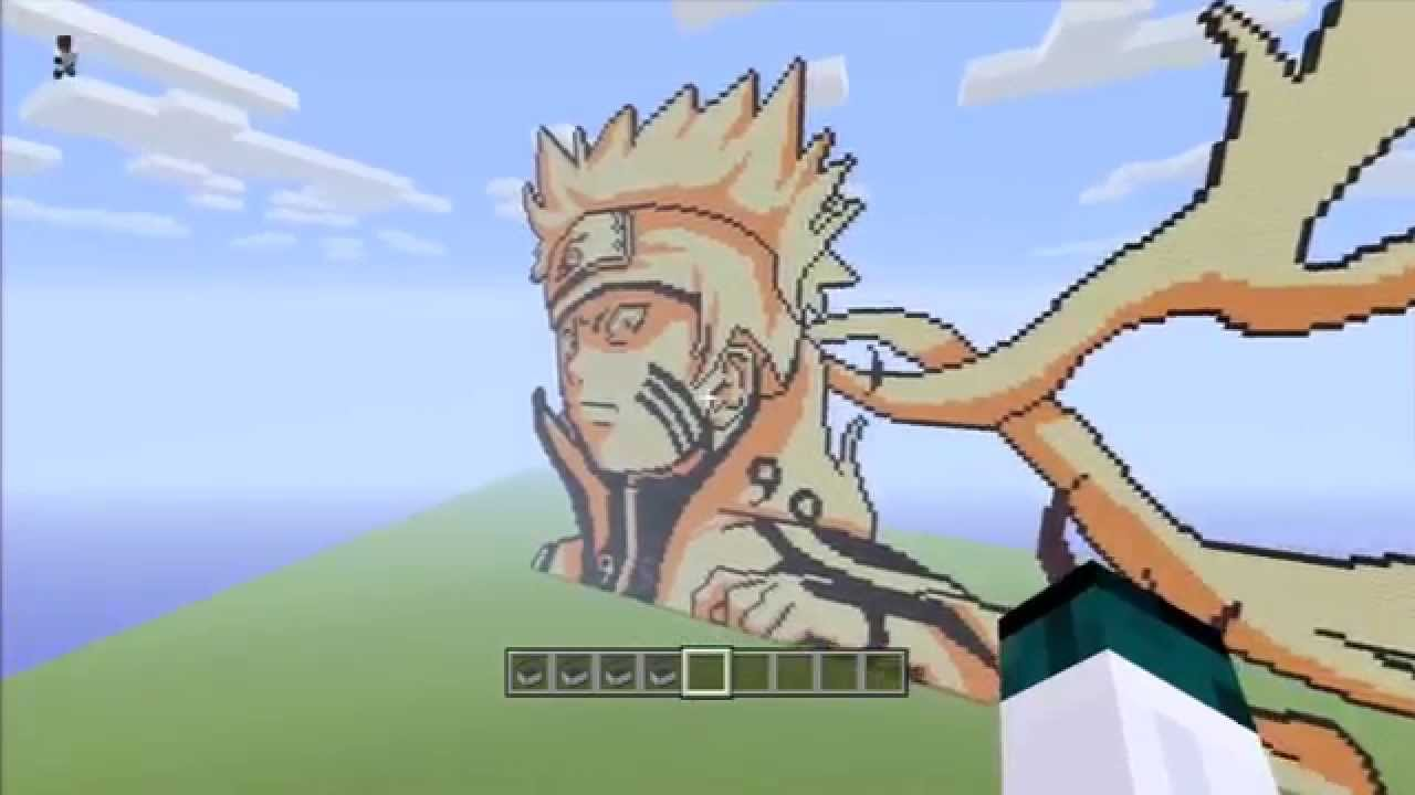 Naruto bijuu mode minecraft pixel art download youtube gumiabroncs Images