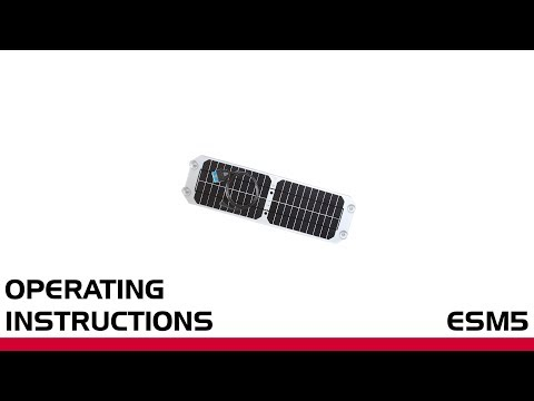 Deutronic ESM5 Solar Panel - Operating Instructions