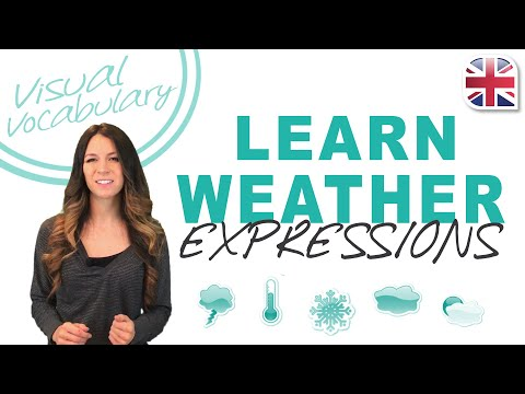 Learn Weather Expressions in English - Visual Vocabulary Lesson