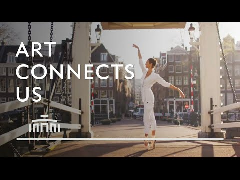 Ballerina dances in the empty streets of Amsterdam