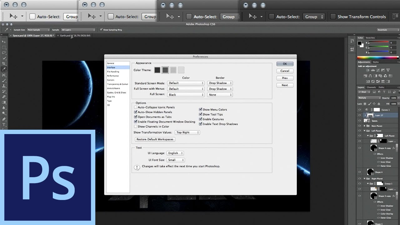 Photoshop CS6: Interface and Performance | IceflowStudios