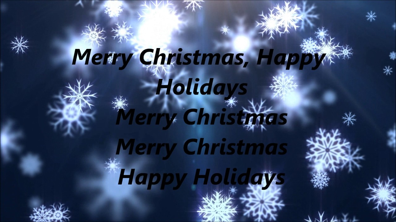 pentatonix merry christmas happy holidays lyrics youtube