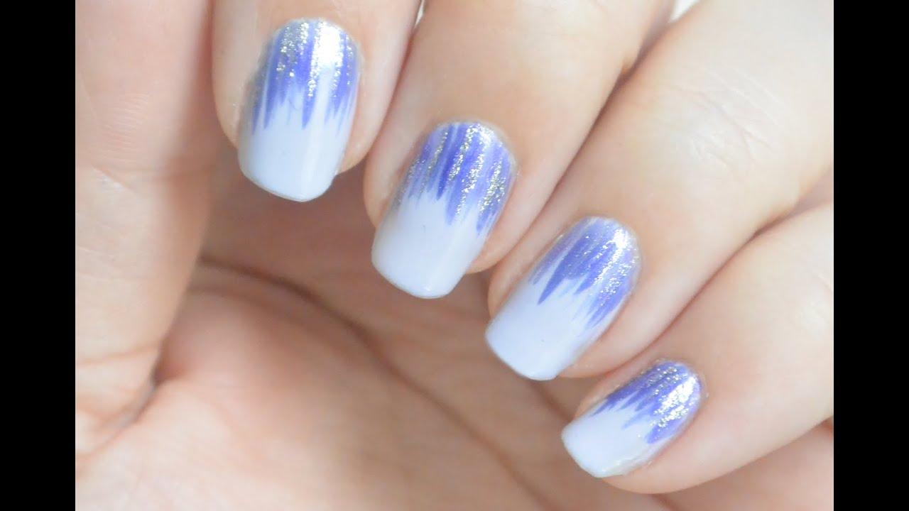Prom Nails - Prom Week, day 1 | elegant feathered design - YouTube