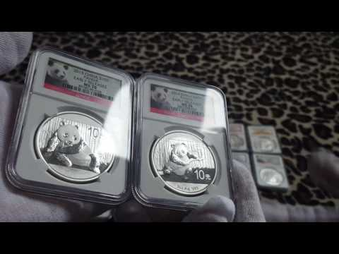 ☆China Chinese Silver Panda Coins NGC Certified - Rare .999 Fine Bullion Coin Bar Collection Reveal