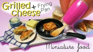 Miniature Grilled Cheese Tutorial & Frying Pan // Miniature Food