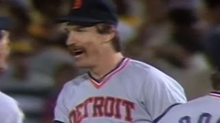 1984 WS Gm1: Morris gets final out, Tigers win