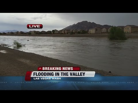 Flooding in Las Vegas Wash