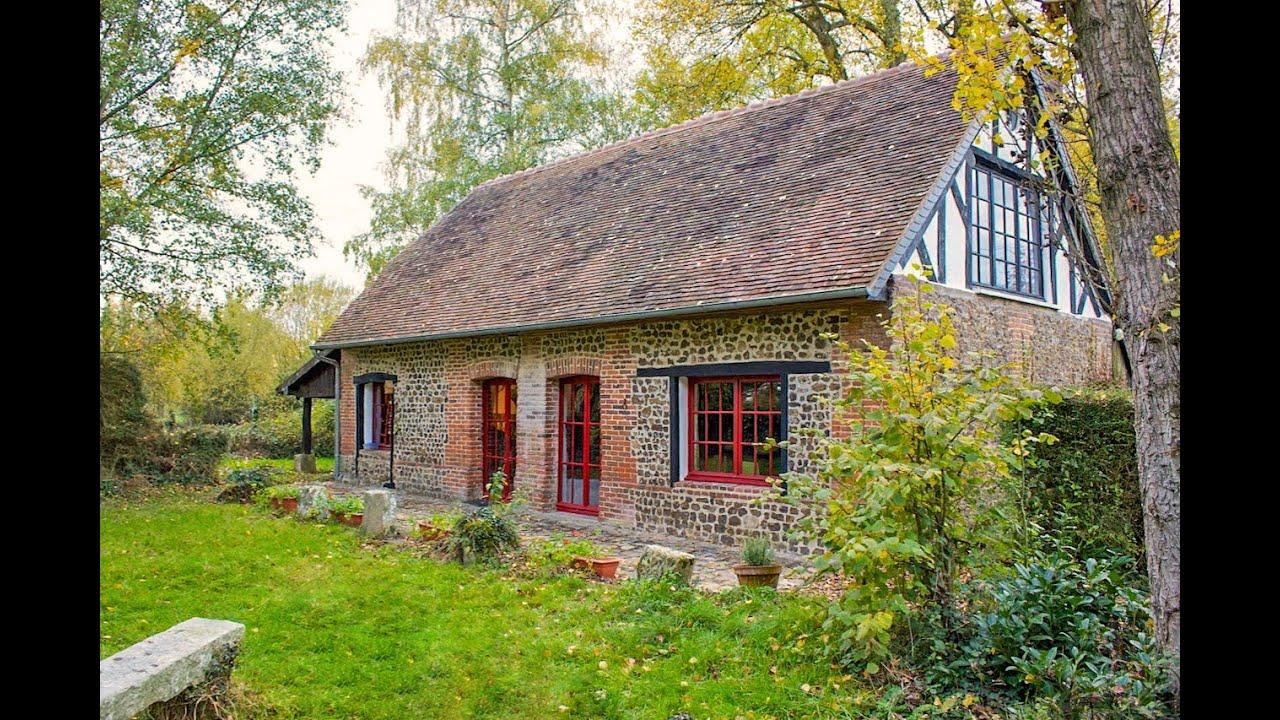 Maison de charme à vendre près d'Orbec (14), Normandie - YouTube