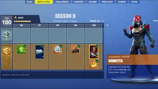 Fortnite Season 9 Max Battle Pass Tier 100 - Fortnite Battle Royale