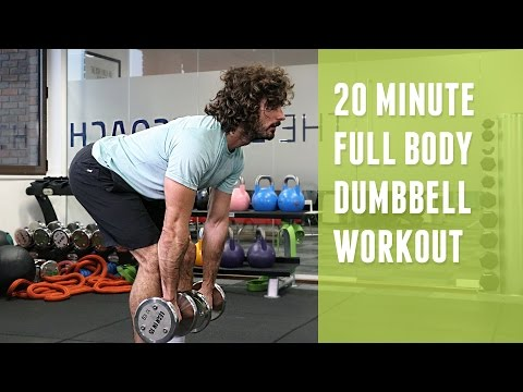 20 Minute Full Body Dumbbell Workout | The Body Coach