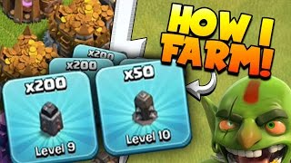 "Clash of Clans: ""LETS MAX WALLS!"" HOW I'M FARMING TO MAX TOWNHALL 9"