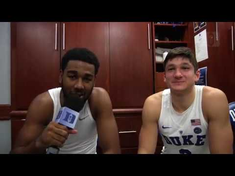 DBP: Matt Jones with Grayson Allen after the William & Mary win (11/23/16)