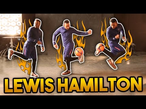 LEWIS HAMILTON SHOWS HIS FOOTBALL SKILLS!!