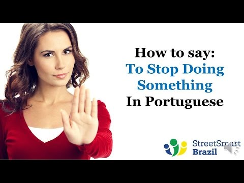 how to say want in portuguese