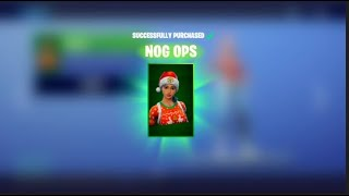 Buying Nog Ops Fortnite Skin without spending money or using gift cards.