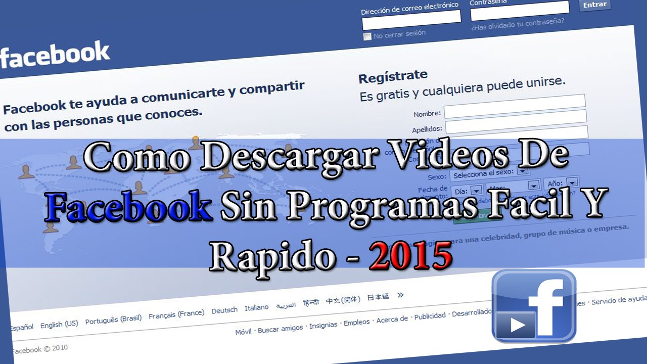 Como Descargar Videos De Facebook Facil Y Rapido Sin