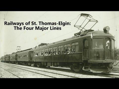 Railways of St. Thomas-Elgin: The Four Major Lines