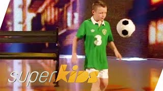 Ball magic by 12 yrs old Ciaran Duffy from Ireland | Superkids