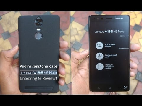 huge selection of 82c13 4b602 Pudini sandstone back case for lenovo vibe k5 note-unboxing & Review!