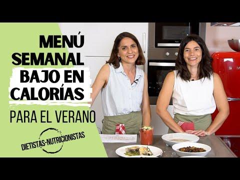 MENÚ SEMANAL BAJO EN CALORÍAS | Menú de verano con recetas para perder peso