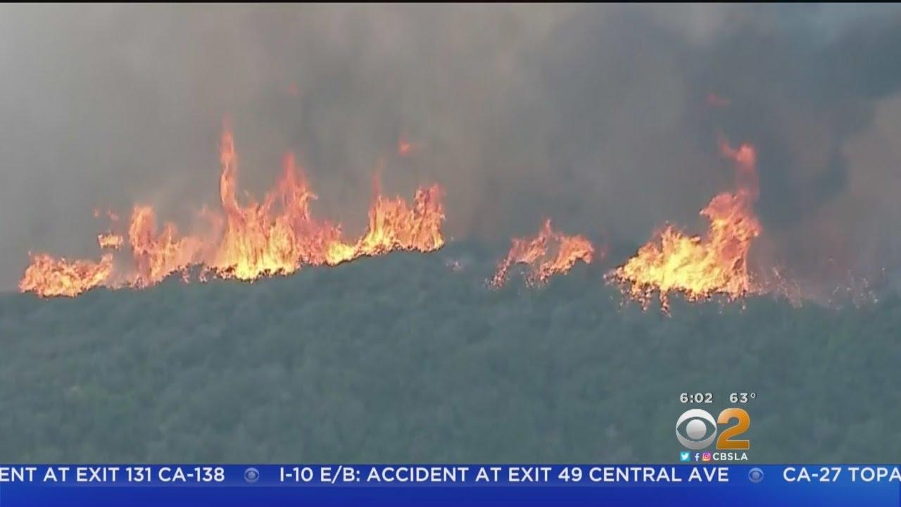 Topanga Canyon Still Closed As Crews Battle Malibu Fire Youtube
