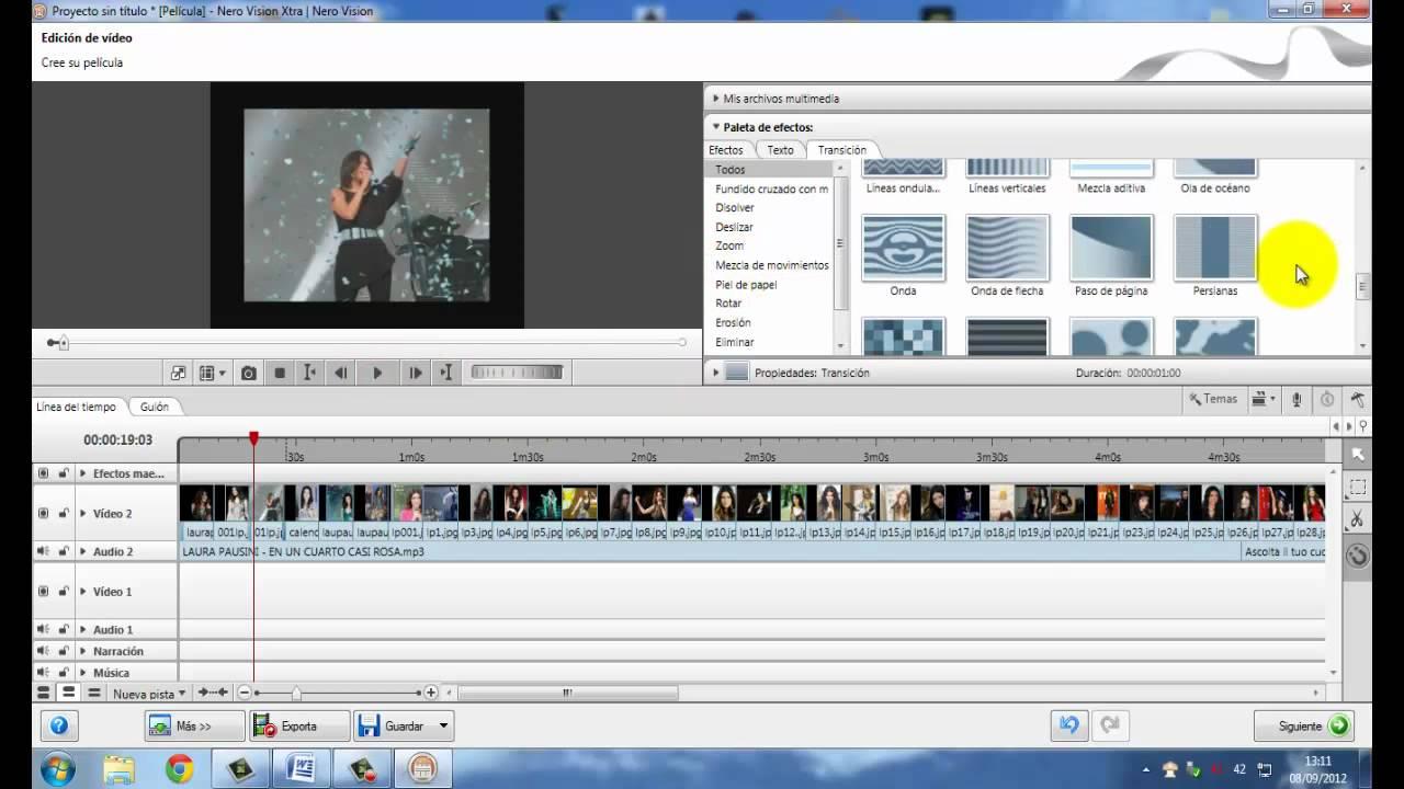 tutorial como crear un dvd de fotos con musica y efectos con nero youtube. Black Bedroom Furniture Sets. Home Design Ideas