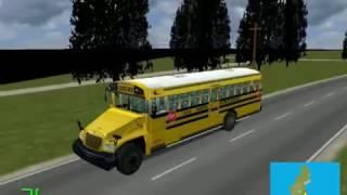 mm2 遊車河 178 blue bird vision school bus in polish road city