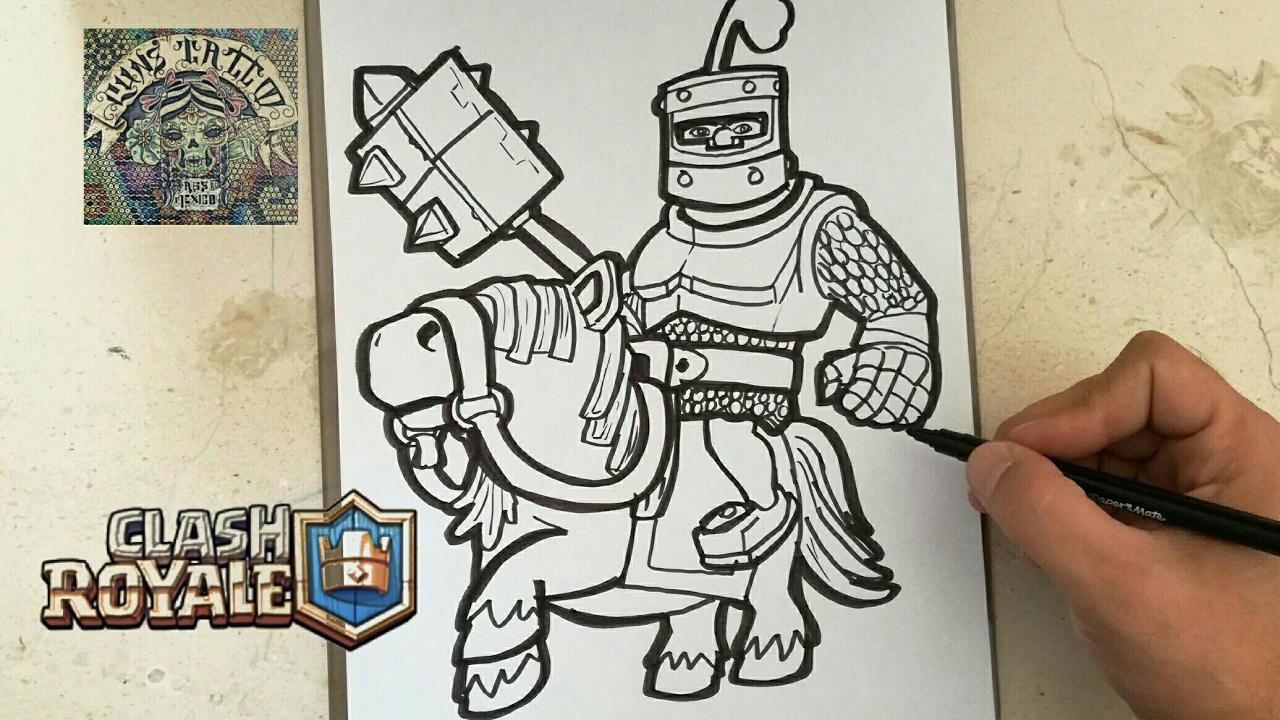 Dibujos Para Dibujar De Clash Royale: COMO DIBUJAR AL PRINCIPE OSCURO