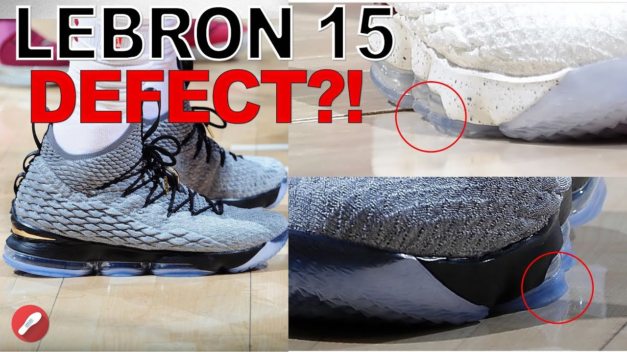 cheap for discount de02f 331d9 Nike Changes the Lebron 15 Because Lebron Can t Play in Them!