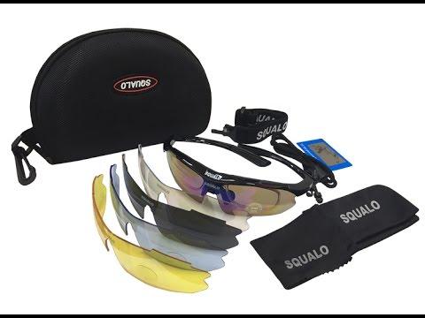 🚲แว่นตาจักรยาน SQUALO (clip lens สายตา + เลนส์ 5 สี)🚲