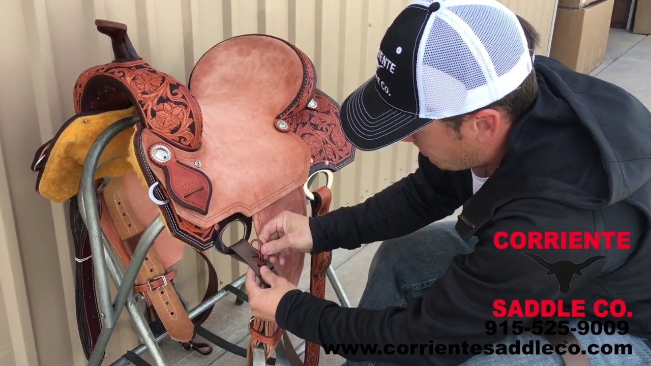Corriente Saddle Company Tying Latigo Knot