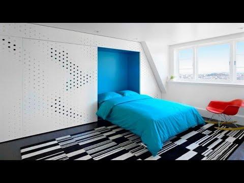 Оригинальные Идеи Откидной Кровати, Встроенной В Шкаф