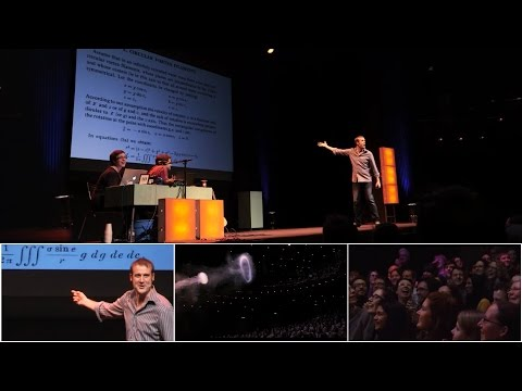 "Stand-up comedy about Equations That Correspond to Vortex Motions (aka ""smoke rings"")."