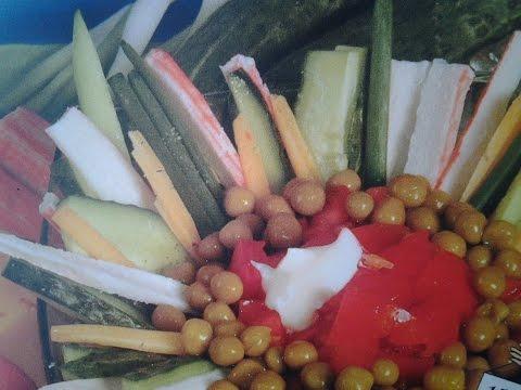 Как сделать Салат из крабовых палочек с овощами без регистрации и смс