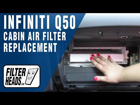 How to Replace Cabin Air Filter 2016 Infiniti Q50