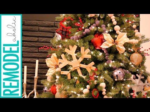 Rustic Woodland Christmas Tree Decorating Tutorial