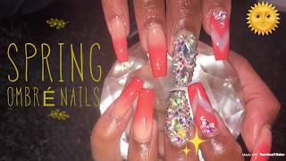 Spring Ombré Nails | Acrylic Nails
