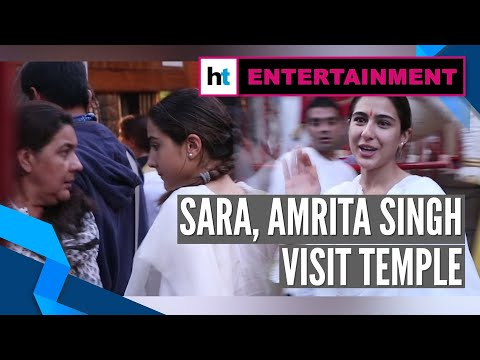Watch: Sara Ali Khan visits temple with mother Amrita Singh