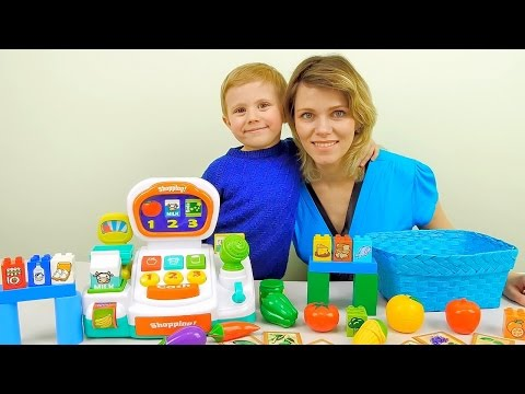 Игрушечный магазин с кассовым аппаратом - Ролевые развивающие игры для детей с Даником