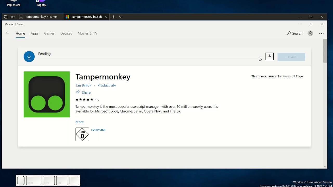 Tampermonkey • Microsoft Edge