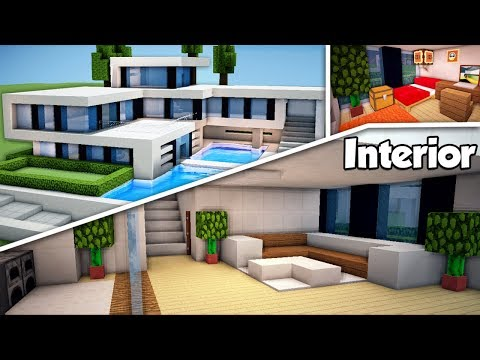 minecraft:-large-modern-house-(#2)-interior-tutorial---how-to-build-a-house-in-minecraft