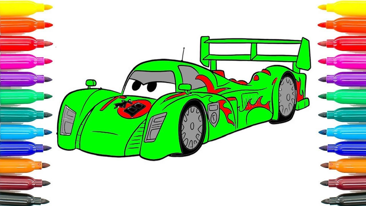 How To Paint Draw Disney Pixar CARS 2 Shu Todoroki ...