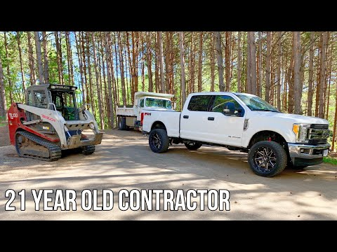 Day In The Life Of A 21 Year Old Contractor | Dirt Screening, Heavy Equipment, & Problems!